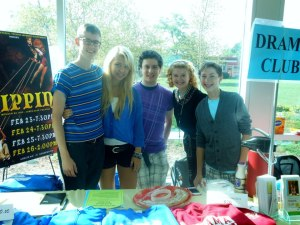 Working the Drama Club Booth! 2012