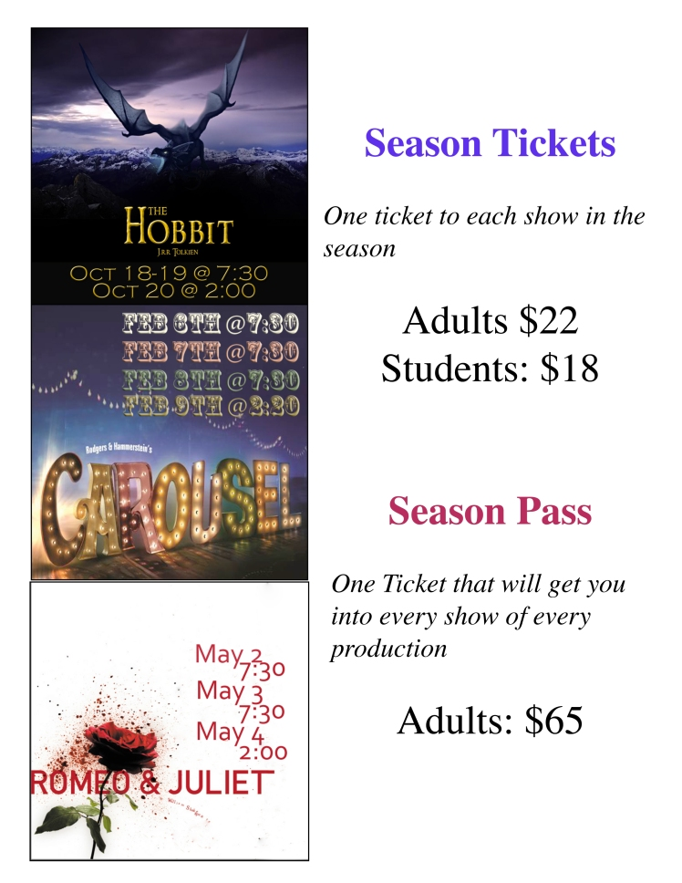 Season Ticket sheet
