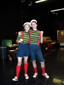 "My sister and I in ""Peter Pan"""