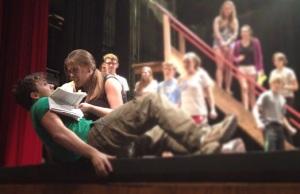 Thorin beats Bilbo up during rehearsal