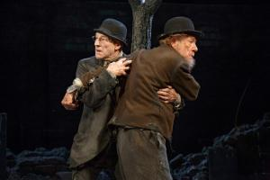 "Patrick Stewart and Ian Mckellen in ""Waiting for Godot.""  Their commitment was the most amazing experience I've witnessed on stage."