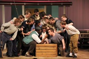 "The men of Carousel singing ""Blow High, Blow Low"" in this yaers musical ""Carousel"""