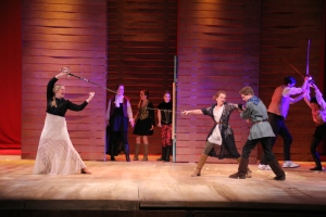 Capulet and Montague fighting