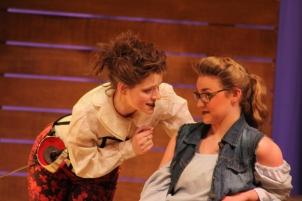 Alex Gieske plays an excellent bawdy Mercutio