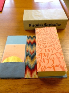 An Artist Book and Container. It folded out into a pop-up book