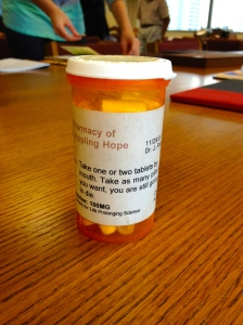 One of my favorite!  A pill bottle Book!