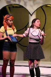Mari Duckler as The Mikado and her Minion, Allison Rowe