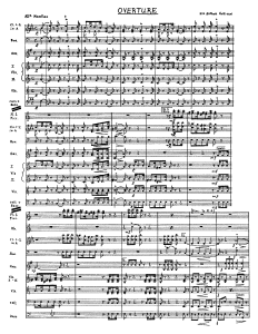 The music the conductor reads during the show.  It shows all instrument parts