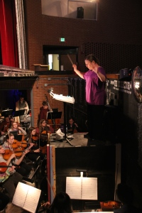 Hard at work in the Orchestra Pit