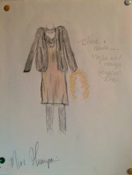 "Miss Hannigan ""Annie"" Costume Design Winter 2015"