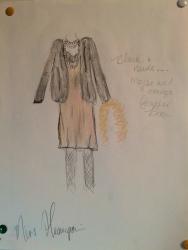 """Miss Hannigan """"Annie"""" Costume Design Winter 2015"""