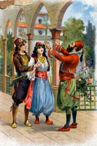 Illustration of the Wedding of Marjana and Ali Baba's Son from Ali Baba and the Forty Thieves