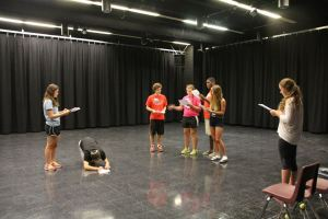 Auditions happen in groups or solo.