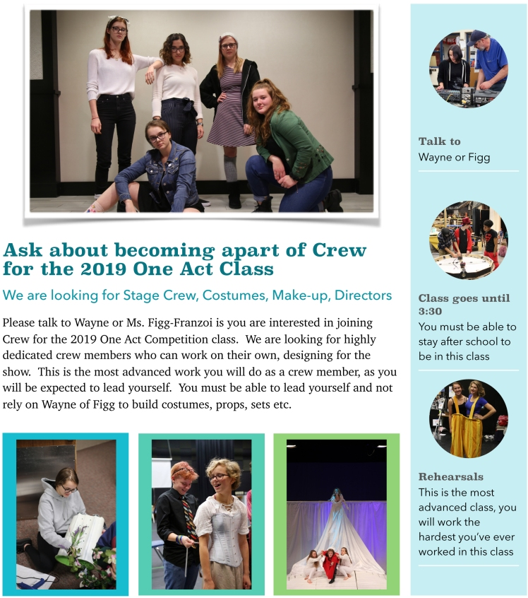 One Act Invitation Crew