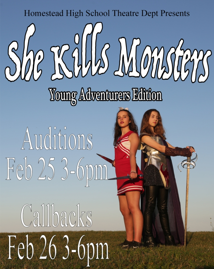 She Kills Monsters auditions